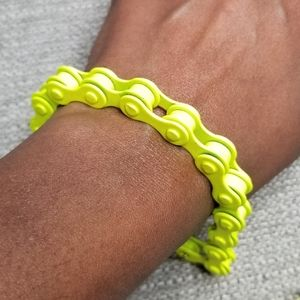 4/$25 ❤ neon yellow bike chain bracelet